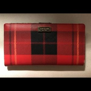 Kate Spade Woodland Plaid Stacy Bifold Wallet